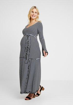 DRESS SERLINA - Vestido ligero - sax/ecru/black