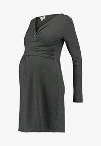 Gebe - DRESS HANNA - Vestido ligero - grey melange - 4