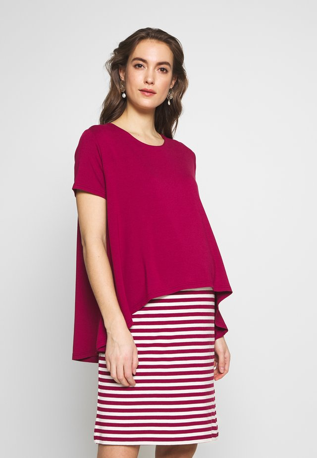 DRESS ALLY NURSING - Jerseyjurk - claret/ecru