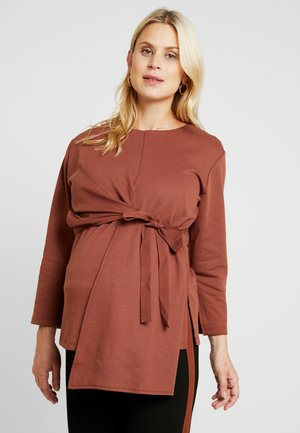 Long sleeved top - light brown