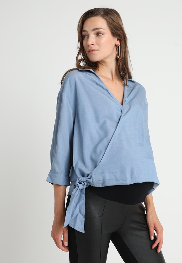 Gebe - BLOUSE ROSIE - Bluse - oxford blue