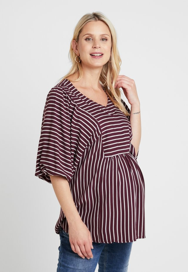 BLOUSE SUNSET NURSING - Blůza - claret