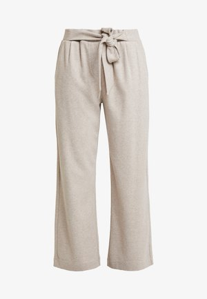 Trousers - light taupe melange