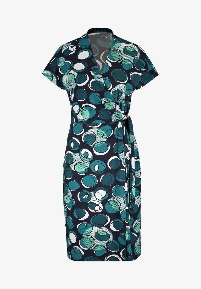 Shift dress - blau/grün druck