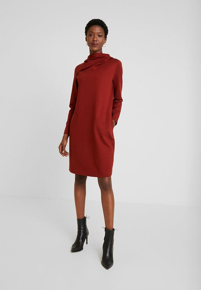 Jersey dress - tabasco
