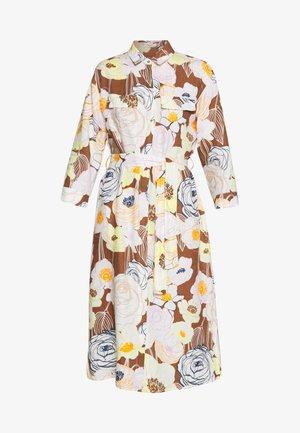 Košilové šaty - braun/gelb