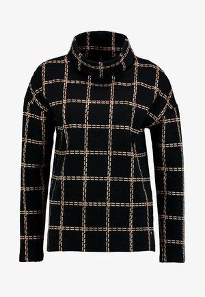 Sweter - schwarz/braun