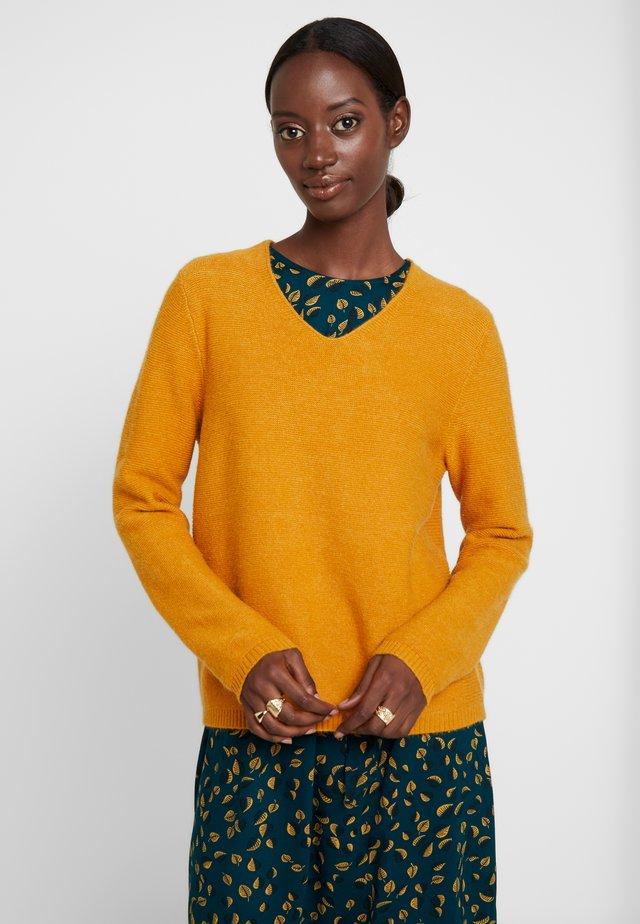 Strickpullover - golden yellow melange