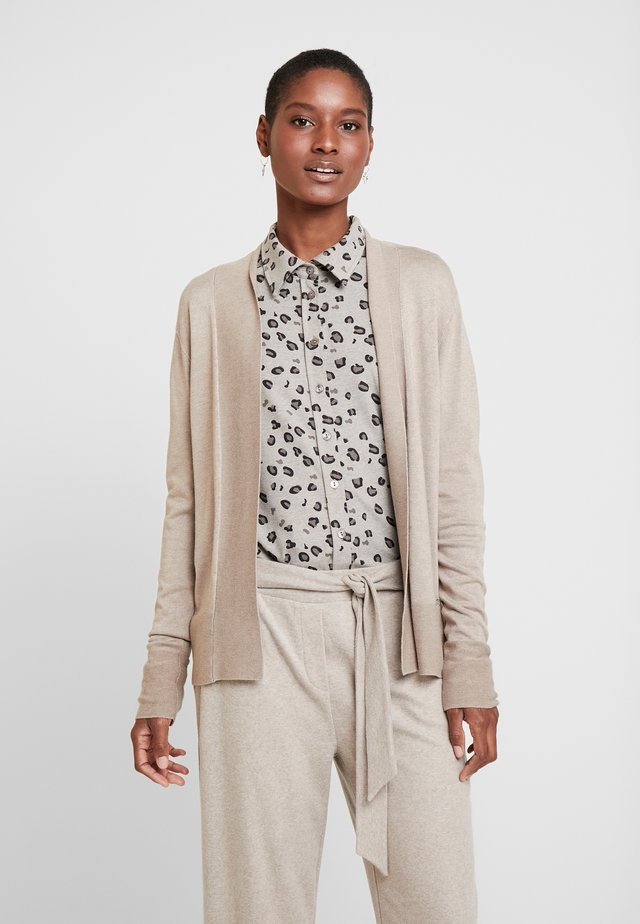 STRICK - Cardigan - light taupe-melange