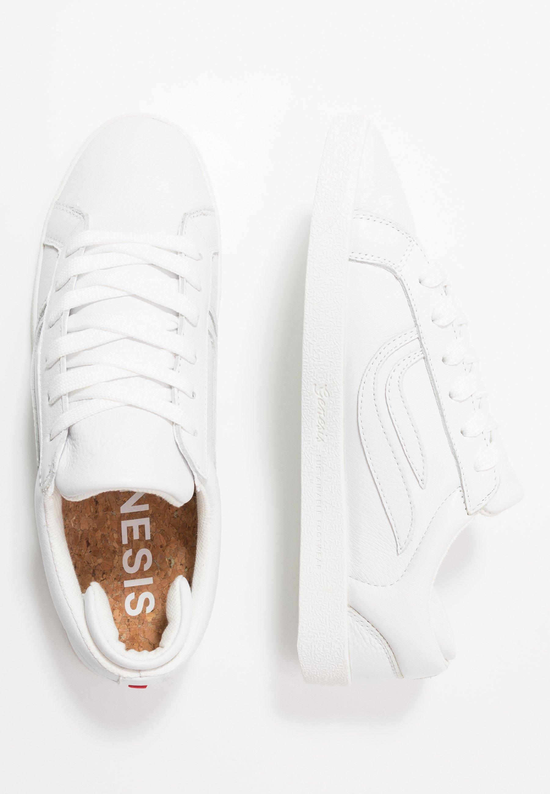 Genesis Helà Tumbled - Sneakers Laag White/offwhite Goedkope Schoenen