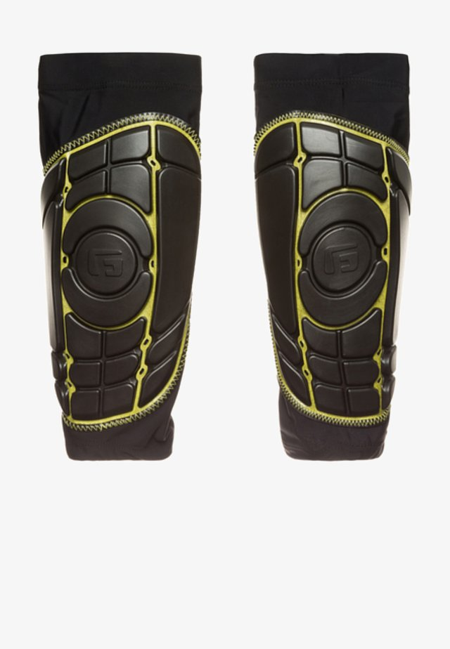 Shin pads - black / yellow