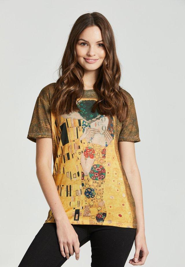 KISS - Print T-shirt - yellow