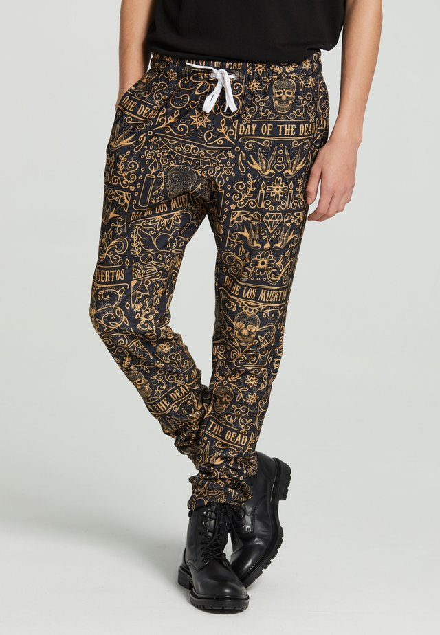 DAY OF DEAD  - Tracksuit bottoms - black