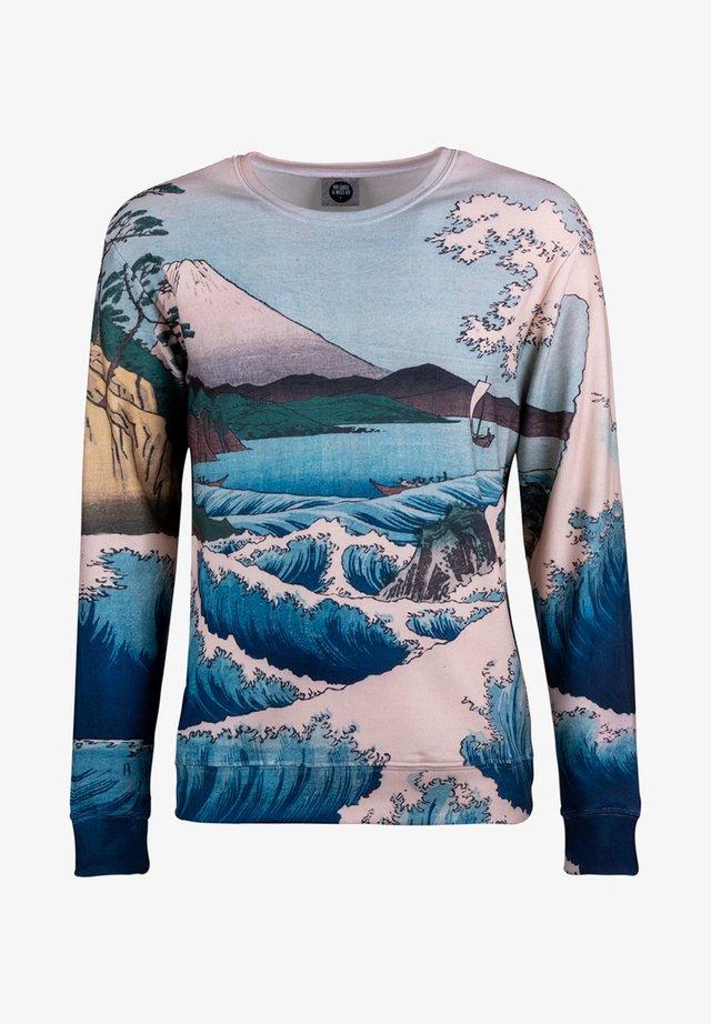 THE SEA OF SATTA - Sweatshirt - beige/light blue