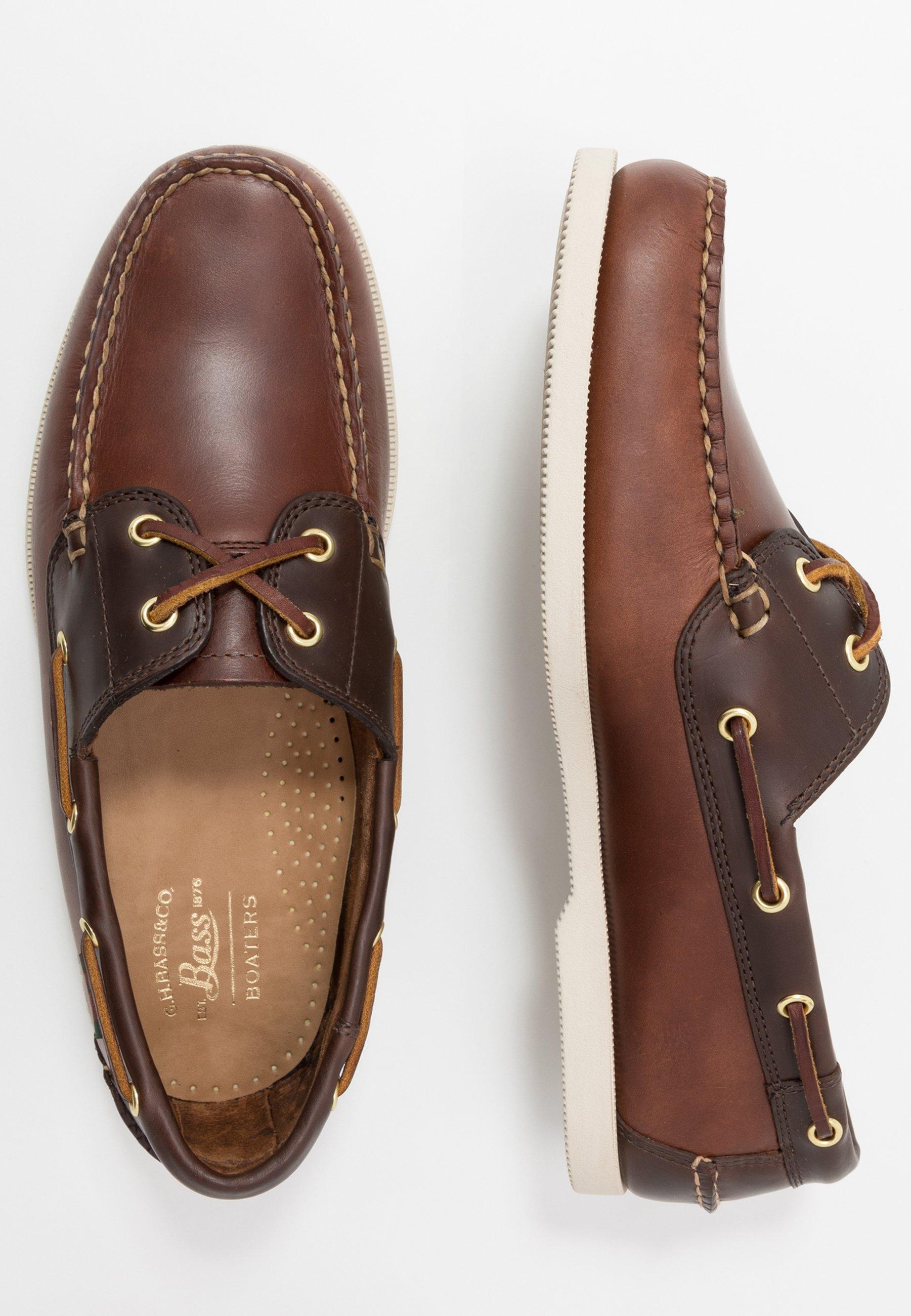 G. H. Bass & Co. JETTY II BOATER - Sejlersko - dark brown/mid brown