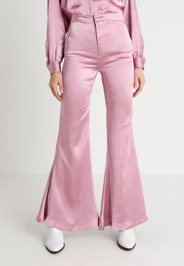 GLOWING GROOMED TROUSERS - Trousers - pink