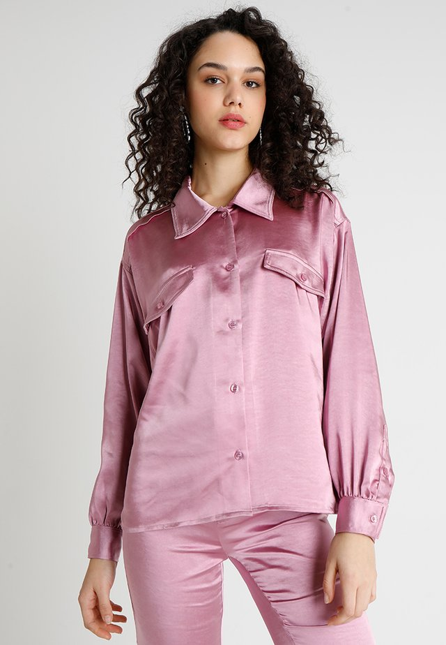 GLOWING GROOMED - Button-down blouse - pink
