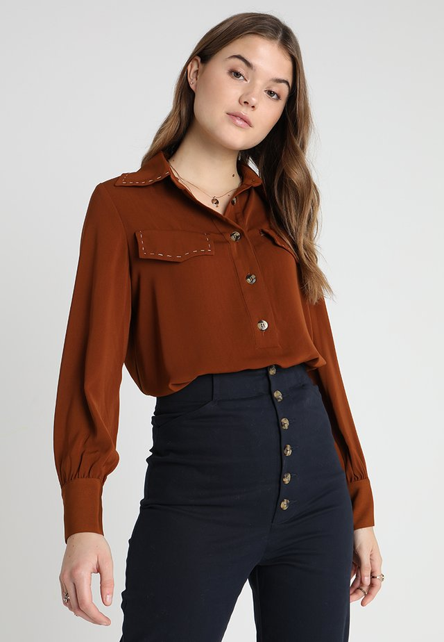 BOLT IT TOPSTITCH - Bluzka - brown