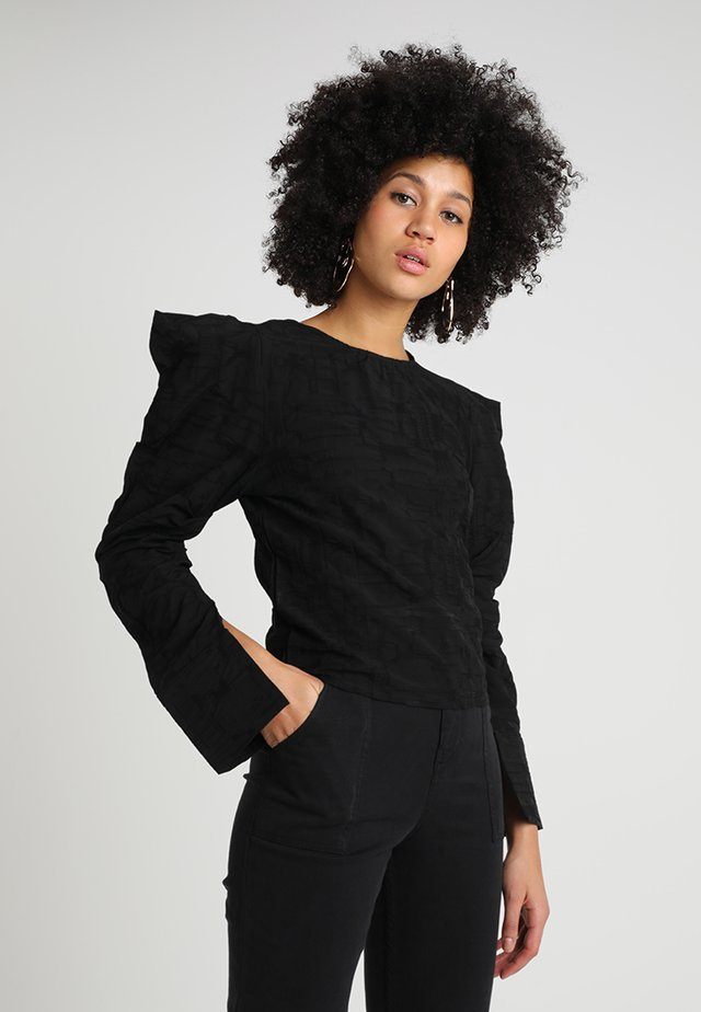 TOWARD WEST - Blouse - black