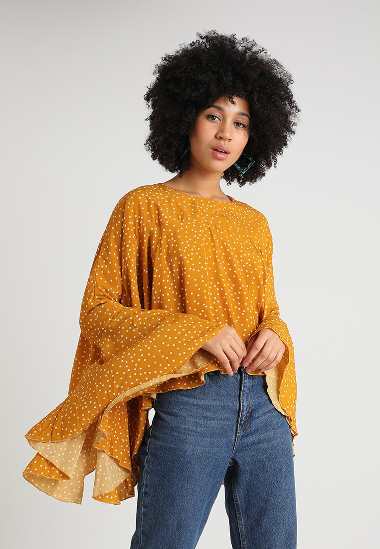 Ghospell - BIG POND BATWING - Blouse - yellow