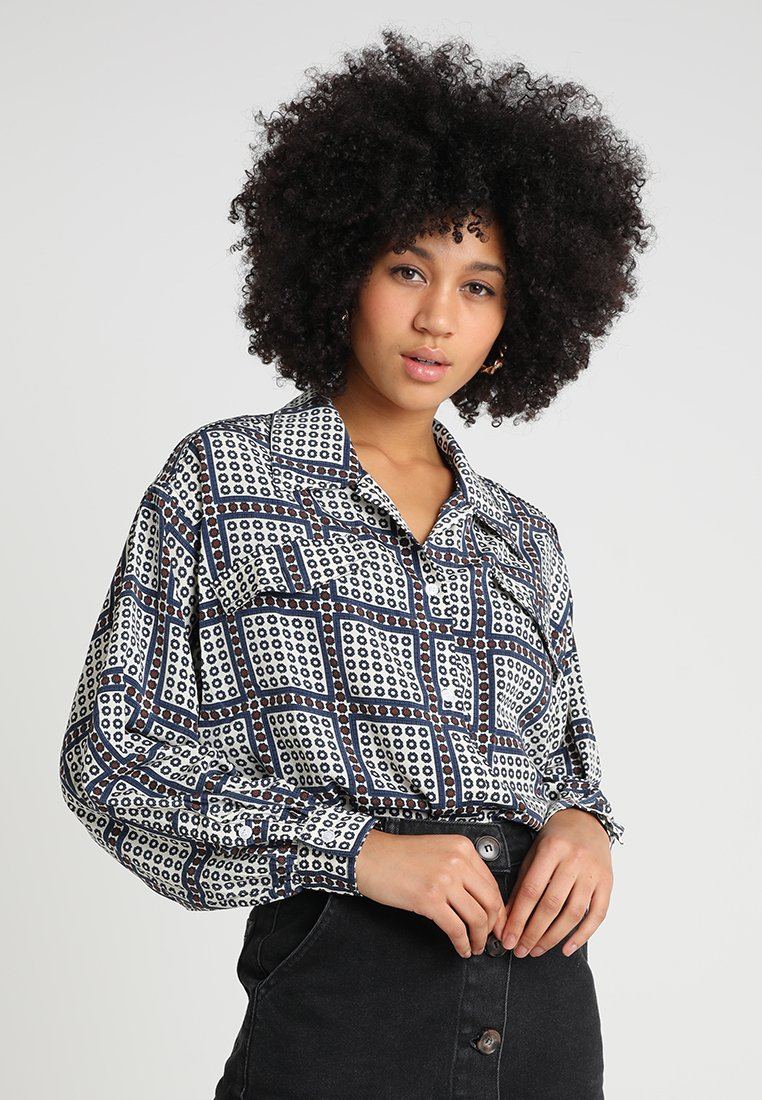 Ghospell - RUSH HOUR BLOUSE - Button-down blouse - blue