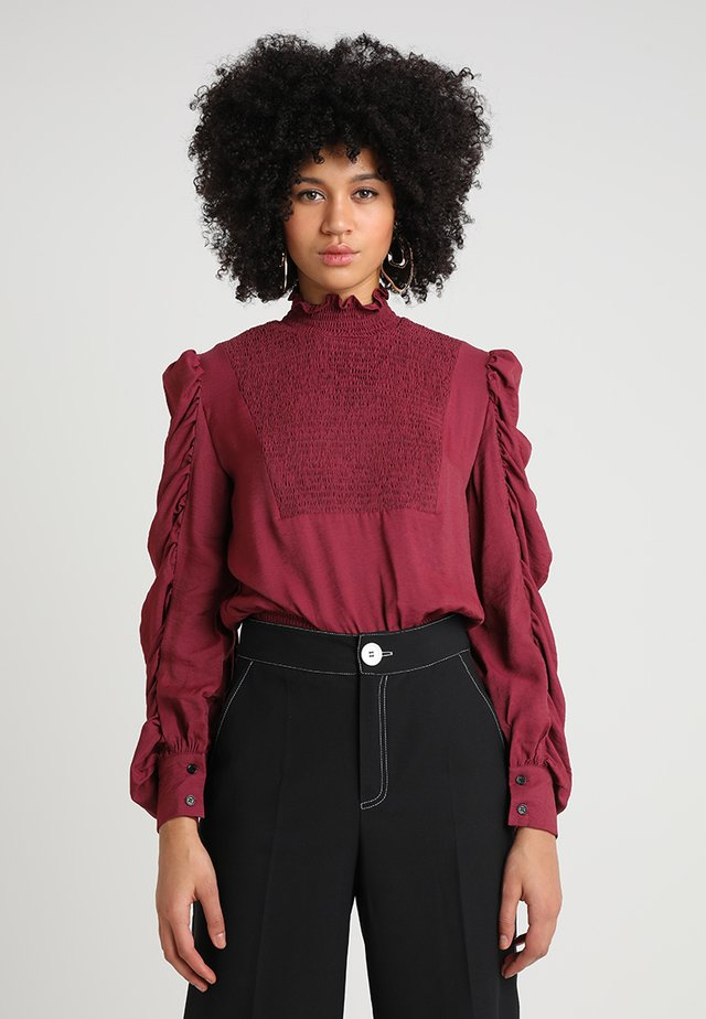 BREAKING NEWS - Blouse - burgundy