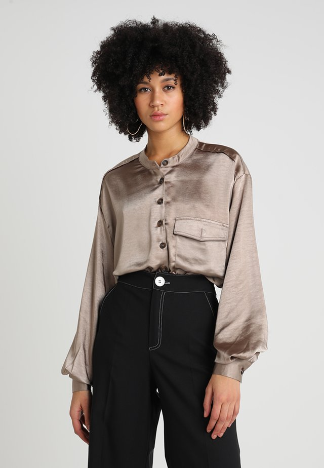 STOOP SCENE BLOUSE - Bluzka - brown
