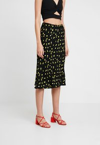 Ghost - JODIE SKIRT - A-snit nederdel/ A-formede nederdele - black/yellow - 0