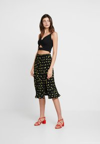 Ghost - JODIE SKIRT - A-snit nederdel/ A-formede nederdele - black/yellow - 2