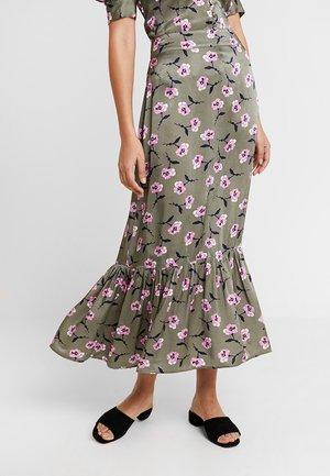 LAUREL SKIRT - Maxi skirt - khaki
