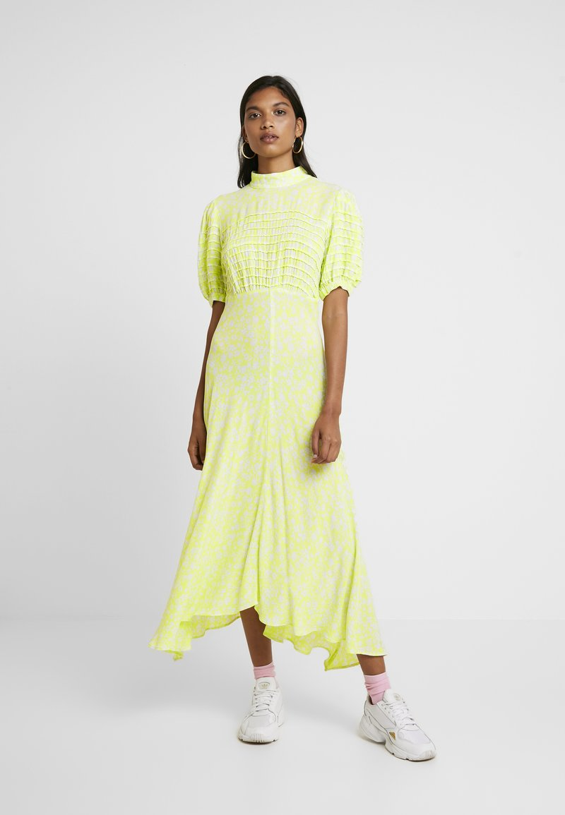 Ghost - JENNA DRESS - Maxikleid - lime/white