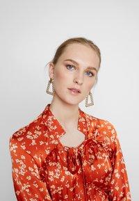 Ghost - LYN DRESS - Košilové šaty - orange - 4