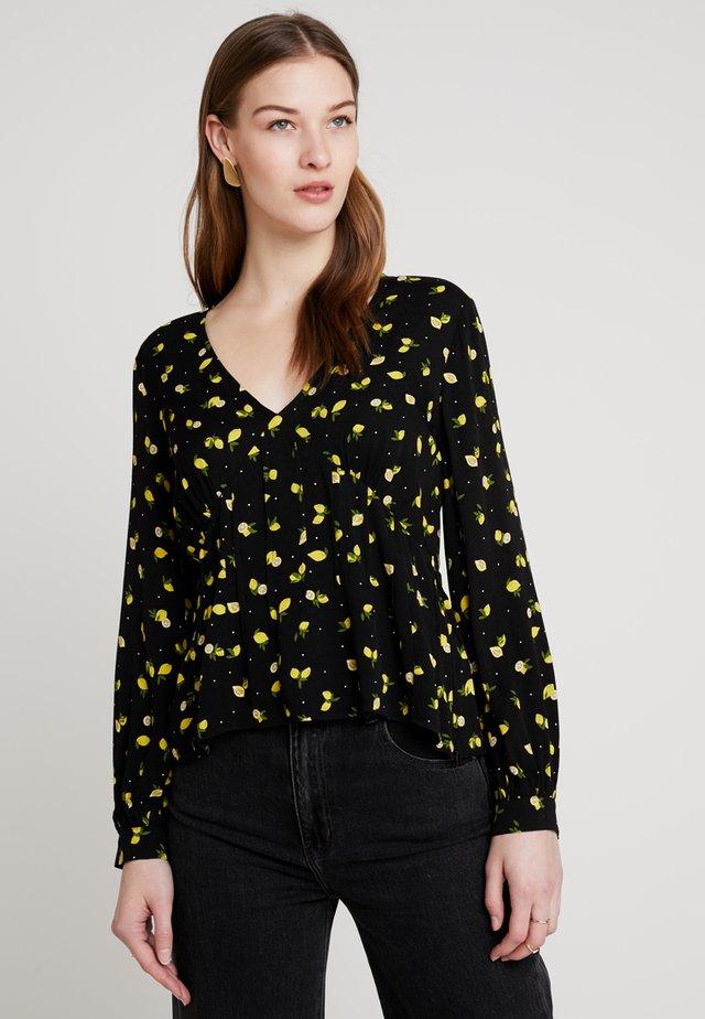 TESSA - Bluser - black/yellow