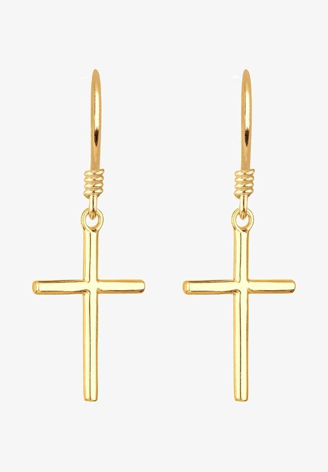 KREUZ - Orecchini - gold-coloured