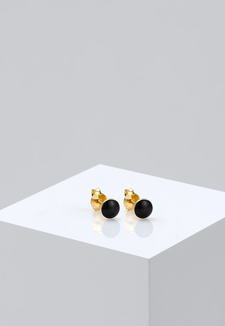 Elli - PLÄTTCHEN - Earrings - gold-coloured/black
