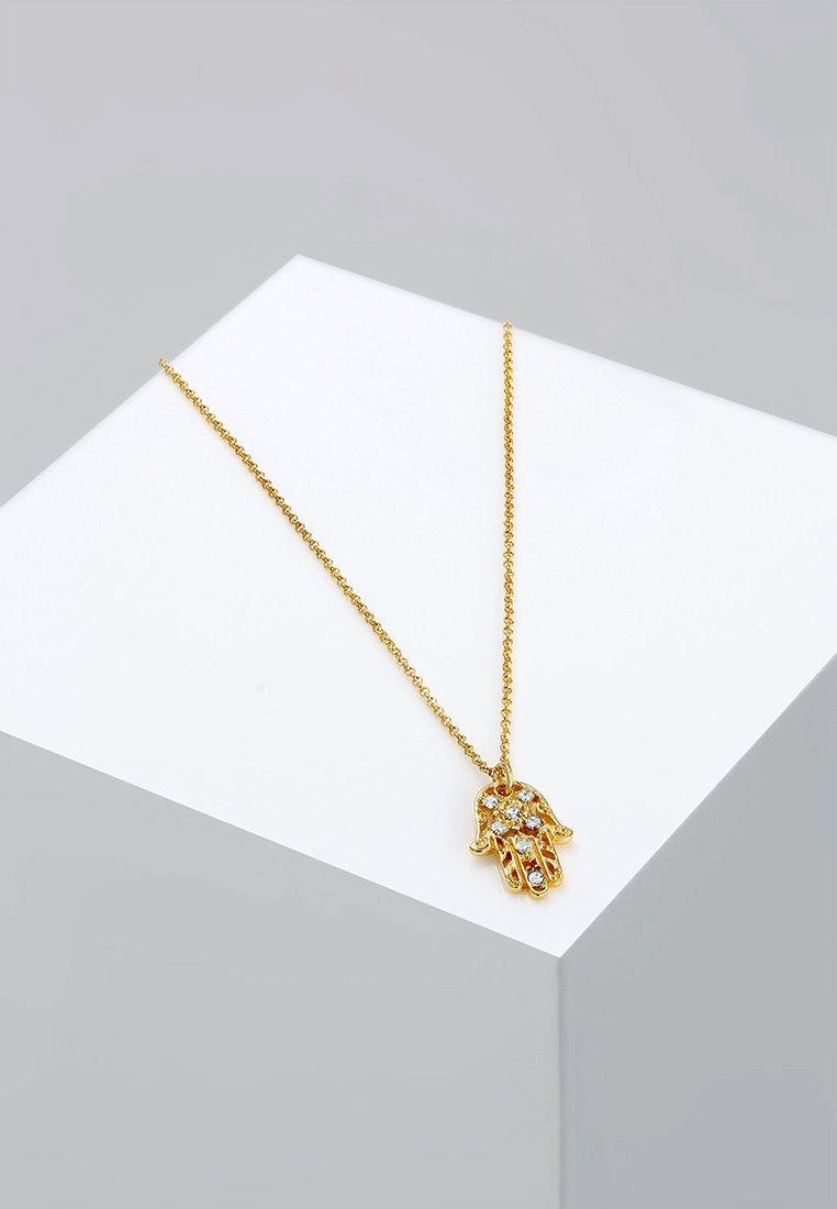 Elli - HAMSA-HAND - Kaulakoru - weiß/goldfarben