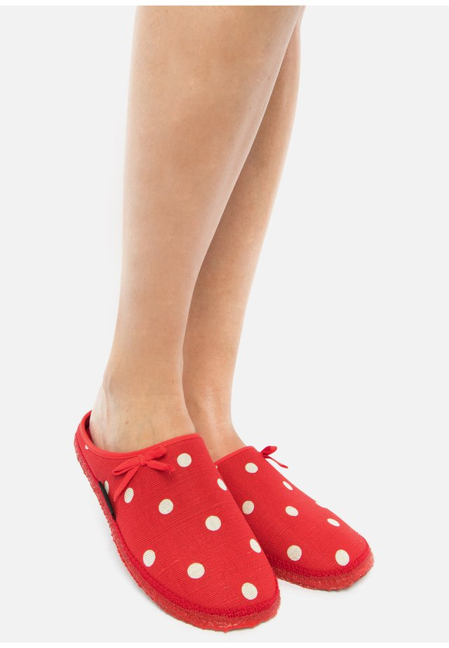 PLEIN - Chaussons - red/white