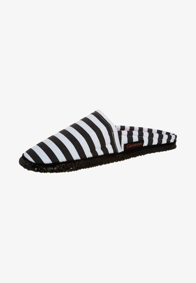 Giesswein - PIRMASENS - Slippers - black/white