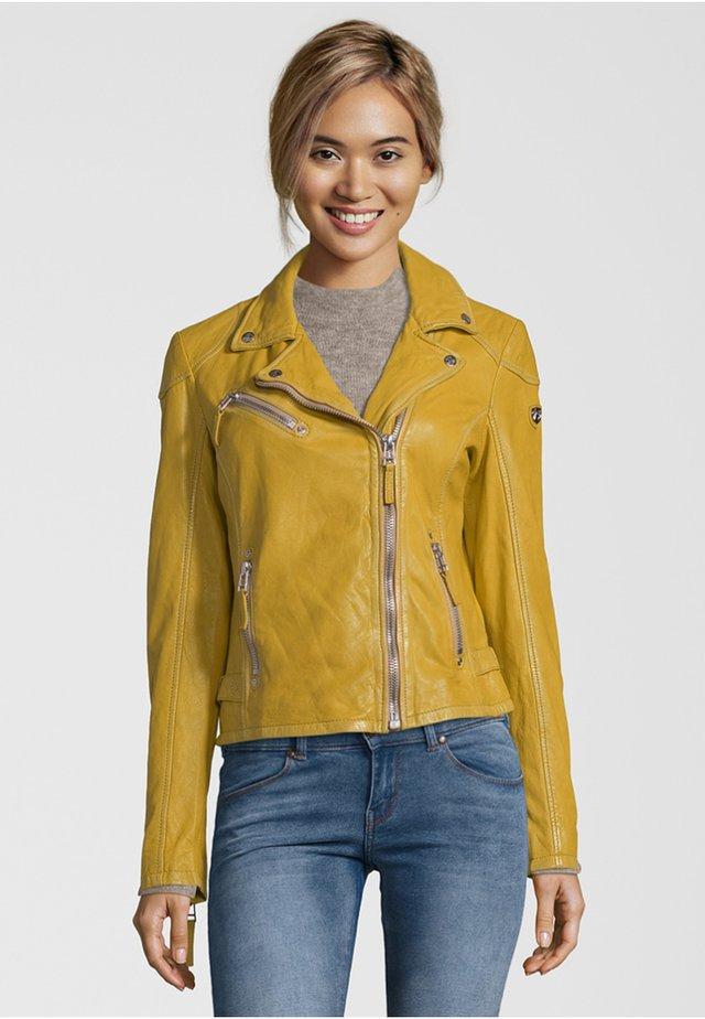 PGG LABAGV - Leather jacket - yellow
