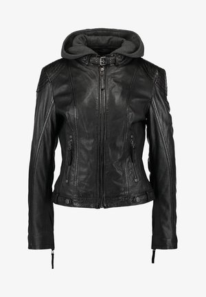 CACEY - Leather jacket - black