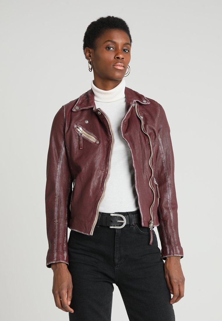 Gipsy - Leather jacket - wine
