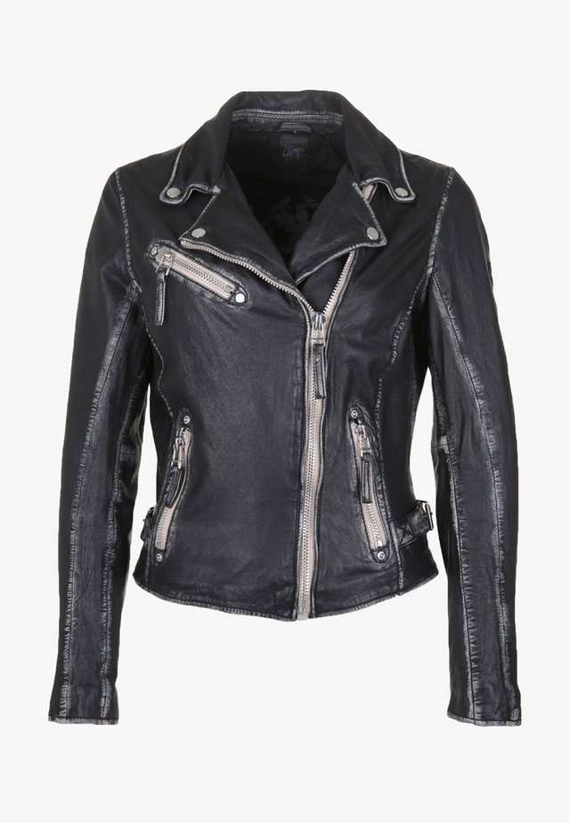 PGG LULV - Leather jacket - black