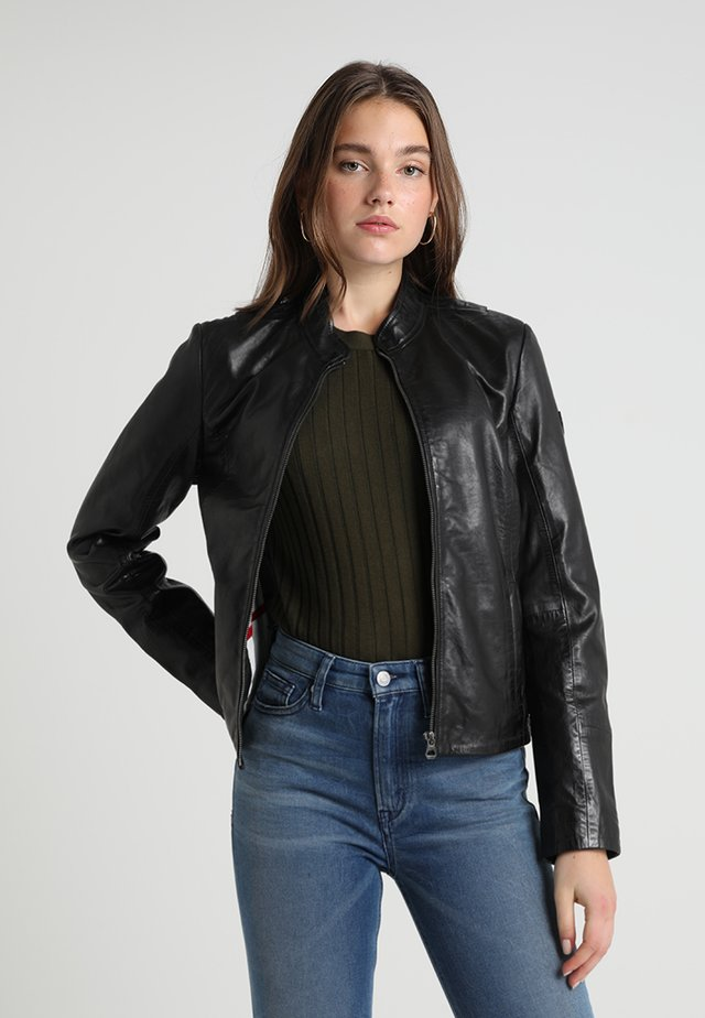 CHESSY - Leather jacket - black