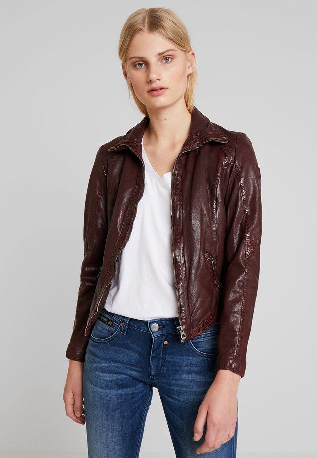LENIE - Leather jacket - dark wine