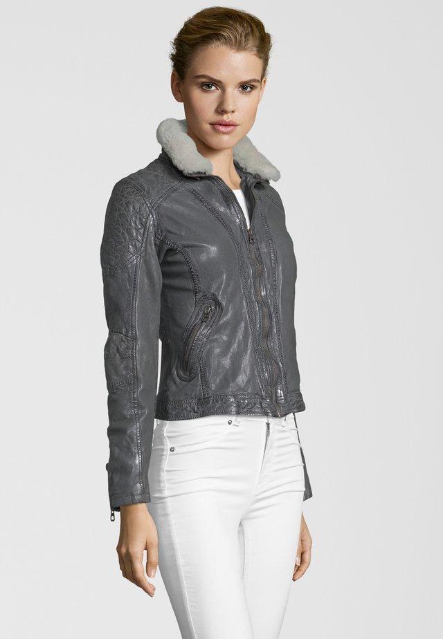 KATIE LVTW - Leather jacket - gray
