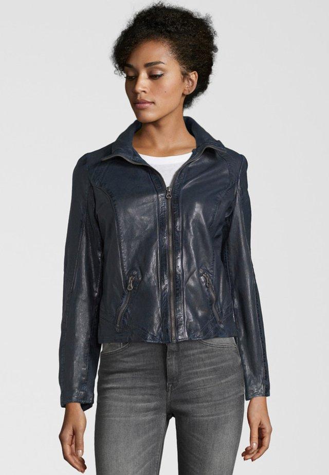 LENIE LVTW - Leather jacket - dark navy