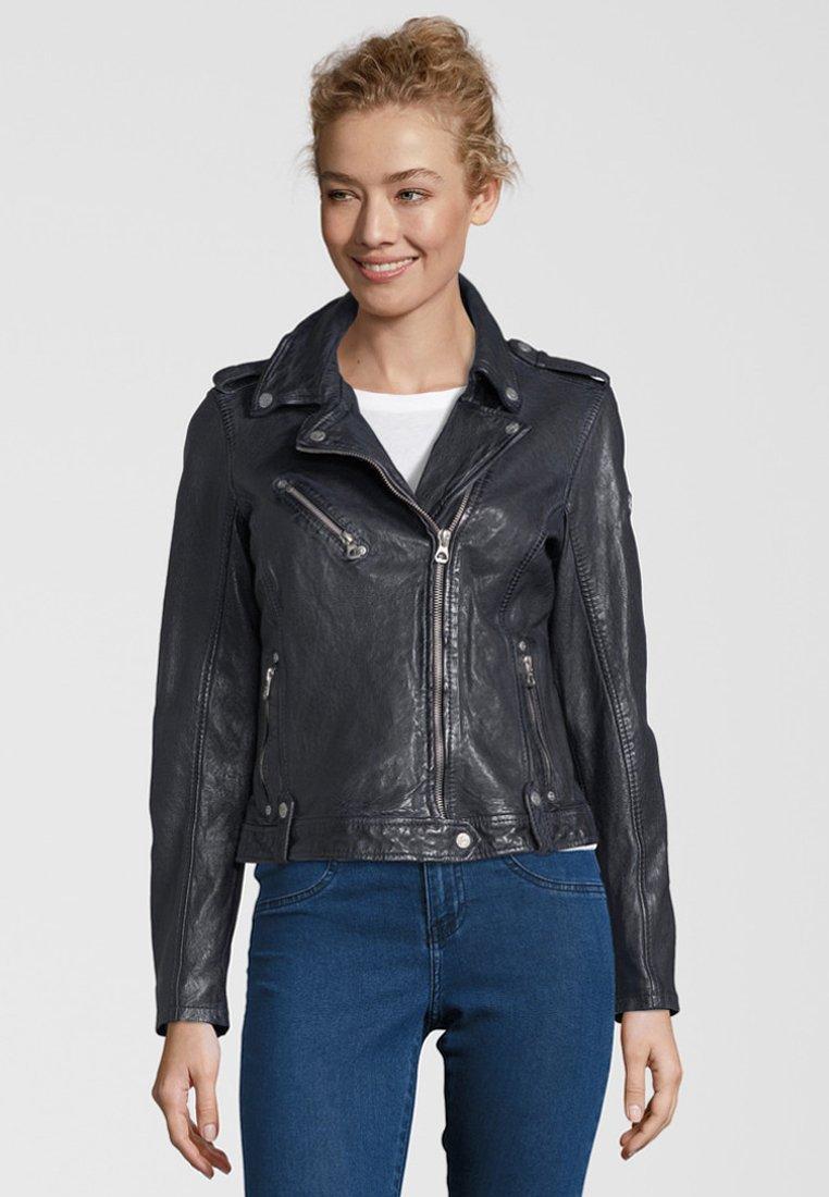 Gipsy - FAMOS - Leather jacket - dark blue