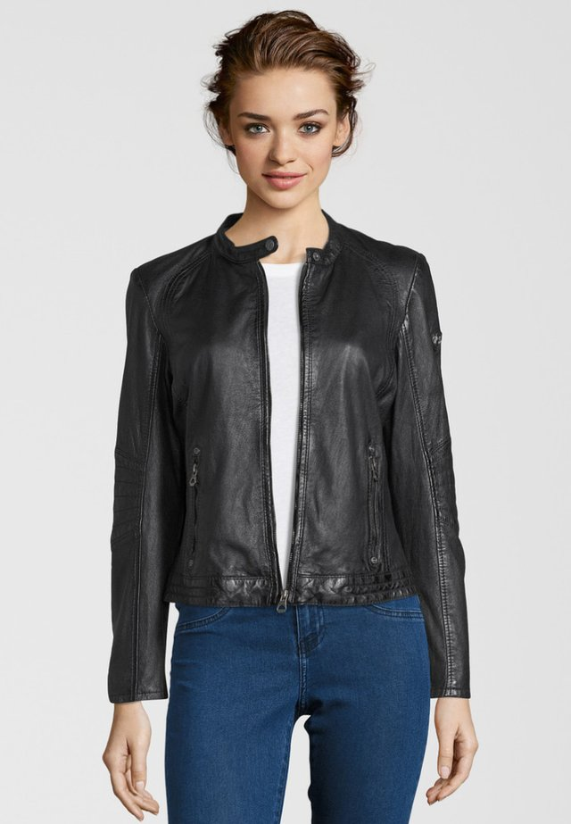 CHENNY LAMAS - Leather jacket - black