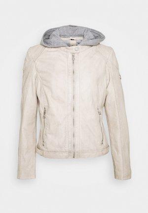 AELLY LAMAS - Leather jacket - off-white