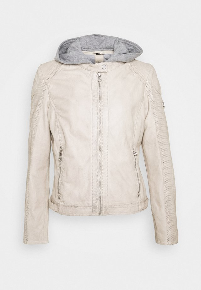 AELLY LAMAS - Leather jacket - off-white